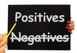 Negatives Positives Board Shows Analysis Or Plusses